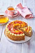 Honey and apple cake