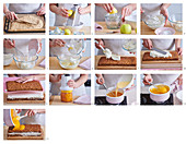 Honey cuts with apricot jelly, step by step