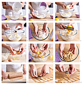 Cookie dough, step by step