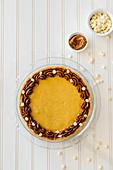 Dulche de leche and white chocolate cheesecake