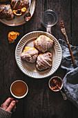 Croissants breakfast scene