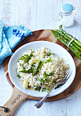 Asparagus risotto with Parmesan cheese