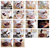 Beetroot and chocolat cake, step by step
