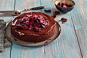 Beetroot and chocolat cake