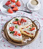 No-Bake Strawberry Tart