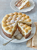 Non-baked biscuit cake (tart)