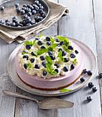 Non-baked blueberry cake