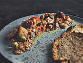 Caponata with bread (Sicily)