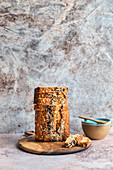 Banana bread with sesame seed sprinkle