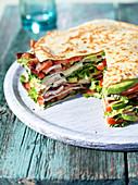 Crepe sandwich B.L.T.