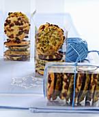 Pistachio and cranberry cookies