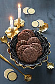 Homemade, gluten-free chocolate cookies