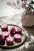 Lilac macaroons