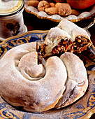 Rocciata di Assisi (Christmas cake with dried fruits, Italy)