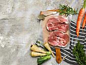Raw Lamb Leg Steaks