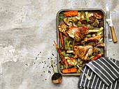 Roast Lamb Shanks with Vegetable