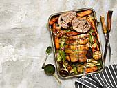 Roast Lamb Shoulder with Vegetable