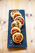 Puff pastry carrot rolls