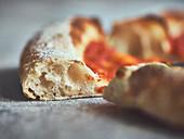Crispy pizza dough made with biga pre-fermentation