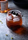 Italian cherry spritz cocktail