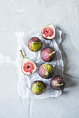 Punch and halved fresh figs