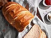 Loaf of White bread, sliced