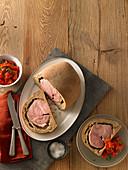 Prague ham baked in bread dough