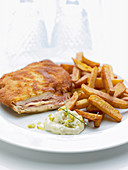 Cordon bleu with homemade french fries