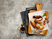 Pan-Fried pork and pepper sausages