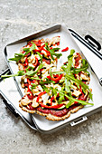 Chia seed pizza with rocket 'To Go'