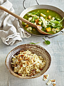 Coconut quinoa with green curry