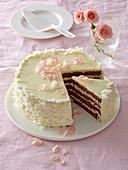 Coffee cake with white chocolate
