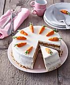 Carrot and nut cake (gateau)