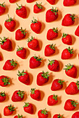 Fresh strawberies, view from above