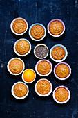 Vegan mandarin chia muffins