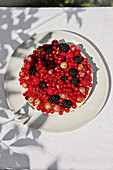 Chilled coconut tart with fresh berries