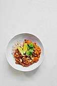 Autumn pumpkin dahl with basmati rice