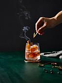Orange cinnamon cocktail
