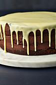 Men's cake with whiskey (very dark chocolate truffle cake)