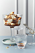 Amaretto and date trifle with crispy biscuits
