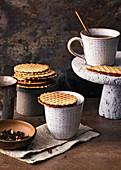 Stroopwafels - Dutch crispy waffles with a caramel filling