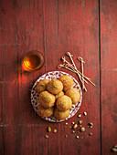 Arancini di riso with pistachios