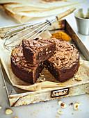 Hazelnut curry brownies