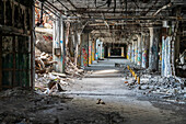 Abandoned auto plant, Michigan, USA