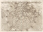 Global maritime map, 16th century