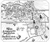 Map of Africa by Juan de la Cosa, c.1500