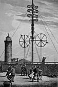Weather station, Germany, 19th century illustration