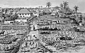 Bagamoyo, Tanzania, 19th century illustration