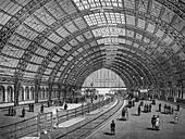 Freidrichstrasse Station, Germany, 19th century illustration