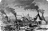 Falun, Sweden, 19th century illustration